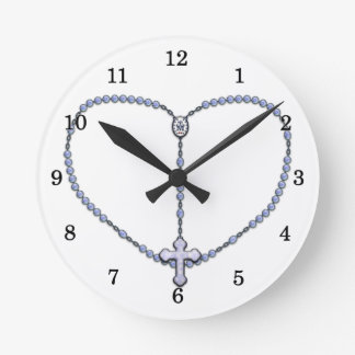 Miraculous Medal Rosary Round Clock