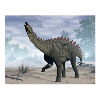 Miragaia dinosaur - 3D render Postcard
