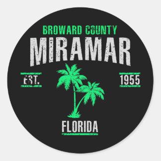 Miramar Classic Round Sticker