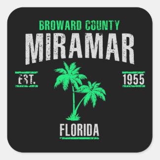 Miramar Square Sticker