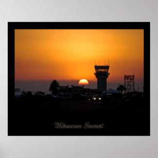 Miramar Sunset Poster