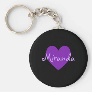 Miranda in Purple Basic Round Button Keychain