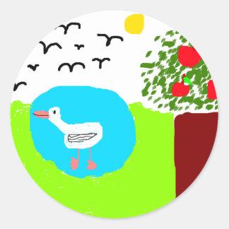 mira's summer classic round sticker
