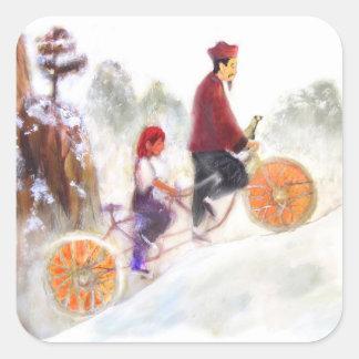 MIRIAM - Liu Xiang's tandem cycle Square Sticker