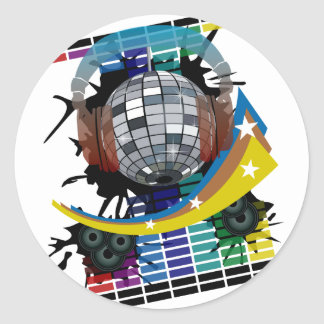 Mirror Ball Classic Round Sticker