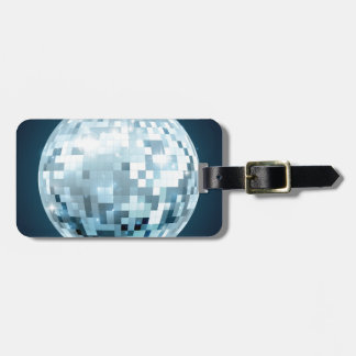 Mirror Ball Luggage Tag