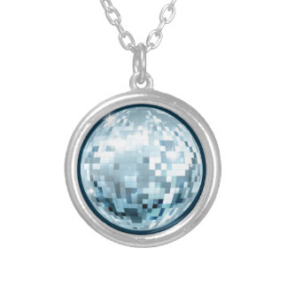 Mirror Ball Silver Plated Necklace