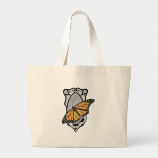 Mirror Butterfly Large Tote Bag