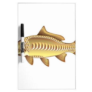 Mirror Carp Vector Art graphic design file Dry Erase Whiteboards