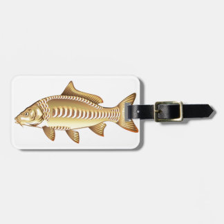 Mirror Carp Vector Art graphic design file Luggage Tag
