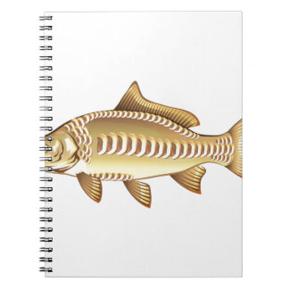 Mirror Carp Vector Art graphic design file Notebooks