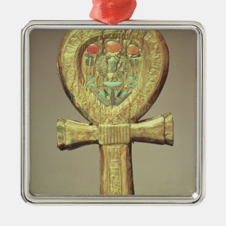 Mirror case in the form of an ankh Silver-Colored square ornament