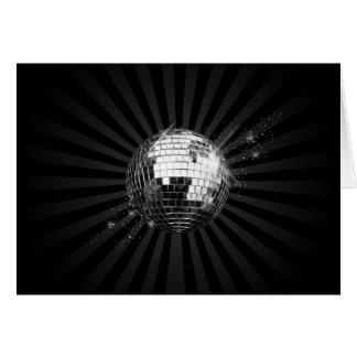 Mirror Disco Ball on Black Card