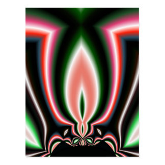 Mirror Flame Abstract Postcard