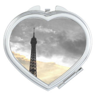 Mirror heart Eiffel Tower gold and money Mirror For Makeup