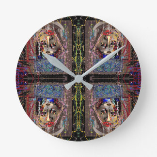 """Mirror Image"" Round Clock"