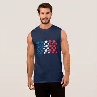 Mirror Inspired by France Flag Sleeveless Shirt