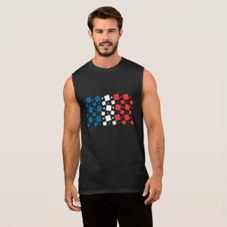 Mirror Inspired by France Flag Sleeveless Shirt