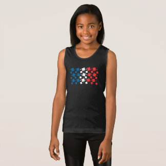 Mirror Inspired by France Flag Tank Top