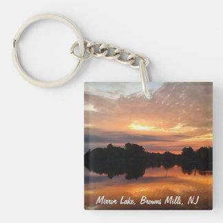 Mirror lake Single-Sided square acrylic keychain