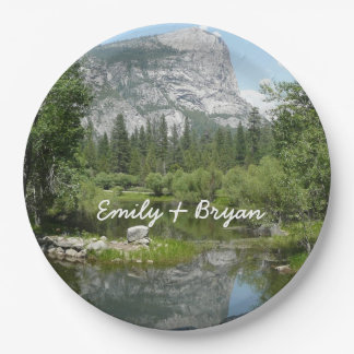Mirror Lake View in Yosemite National Park 9 Inch Paper Plate