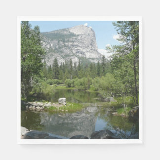Mirror Lake View in Yosemite National Park Paper Napkins