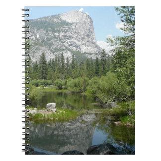 Mirror Lake View in Yosemite National Park Spiral Note Book