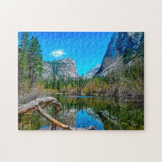 Mirror Lake Yosemite California. Jigsaw Puzzle