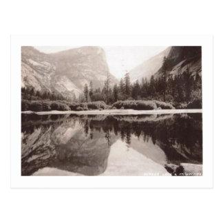 Mirror Lake, Yosemite National Park Vintage Postcard