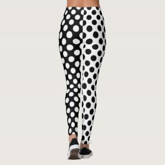 Mirror Opposites Black and White Polka Dot Leggings