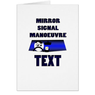 mirror signal manoeuvre text card
