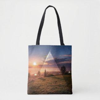 mirror triangle tote bag