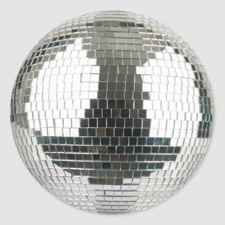 Mirrorball Disco Ball Classic Round Sticker