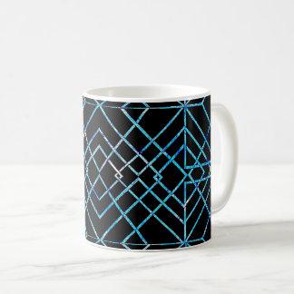 Mirrored Blue on Black Coffee Mug