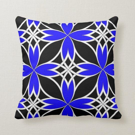Mirrored Celtic ( Blue Invert ) Throw Pillow