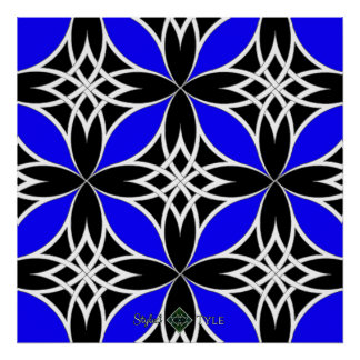 Mirrored Celtic ( Flutterby Blue ) Poster