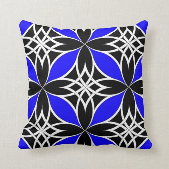 Mirrored Celtic ( Flutterby Blue ) Throw Pillow