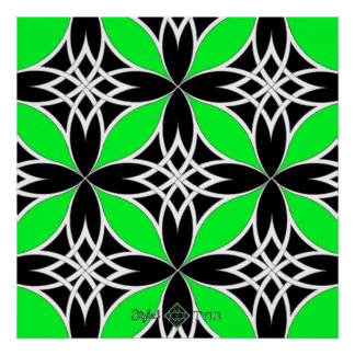 Mirrored Celtic ( Flutterby Green ) Poster