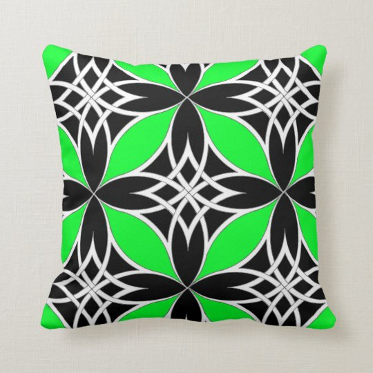 Mirrored Celtic ( Flutterby Green ) Throw Pillow
