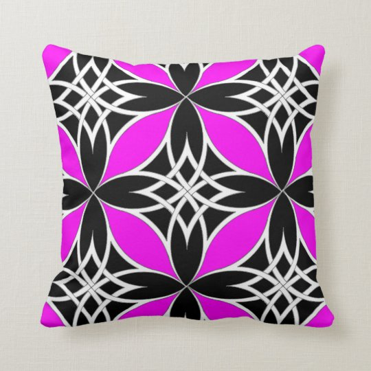 Mirrored Celtic ( Flutterby Pink ) Throw Pillow