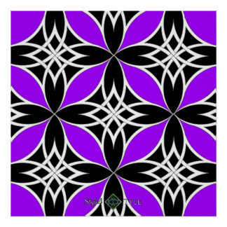 Mirrored Celtic ( Flutterby Purple ) Poster