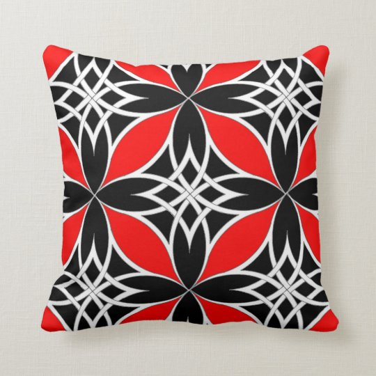 Mirrored Celtic ( Flutterby Red ) Throw Pillow