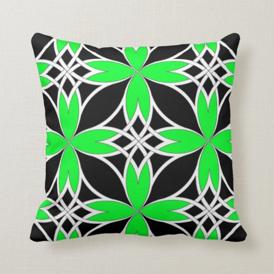 Mirrored Celtic ( Green Invert ) Throw Pillow