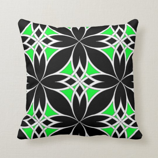 Mirrored Celtic ( Green ) Throw Pillow