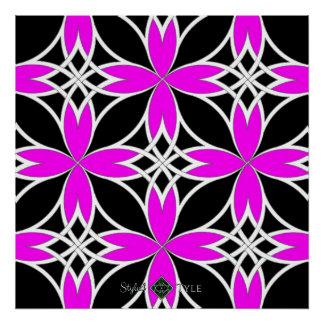 Mirrored Celtic ( Pink Invert ) Poster
