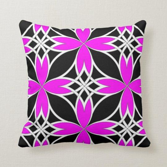 Mirrored Celtic ( Pink Invert ) Throw Pillow