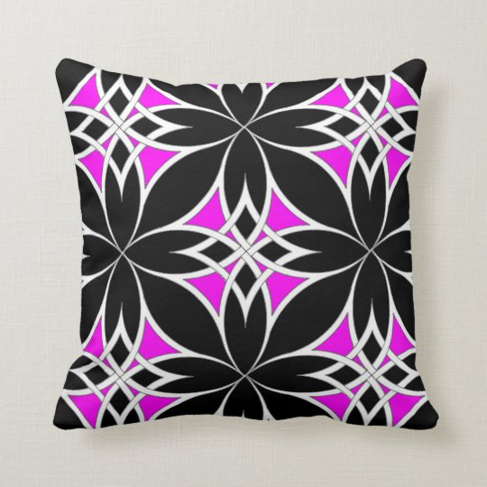 Mirrored Celtic ( Pink ) Throw Pillow