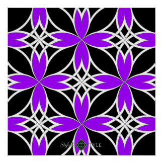 Mirrored Celtic ( Purple Invert ) Poster