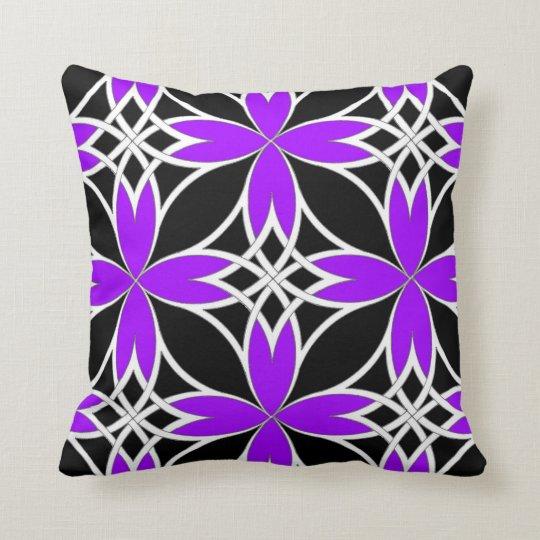Mirrored Celtic ( Purple Invert ) Throw Pillow