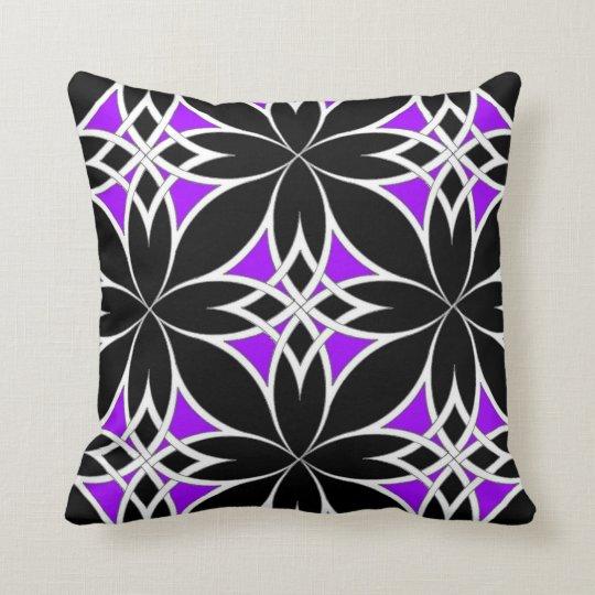 Mirrored Celtic ( Purple ) Throw Pillow